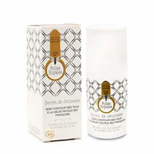 Contour des Yeux Crème Bio – Soin Anti Cernes Naturel Gelée Royale Haute Concentration – 15 ml