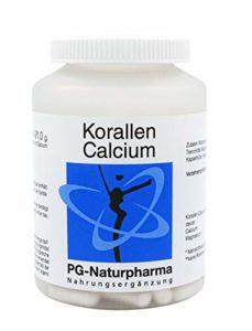 Corail calcium (calcium) avec du magnésium, des Caraïbes, 1 capsule avec 500 mg de poudre de calcium, la préservation de la fonction osseuse et la fonction musculaire, 120 capsules