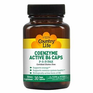 Country Life – Active B-6 Caps 30 Capsules