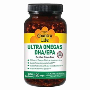 Country Life Ultra Omegas DHA EPA — 120 Softgels