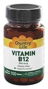 Country Life Vitamin B-12 500 Mcg, 100-Count by Country Life Vitamins (English Manual)