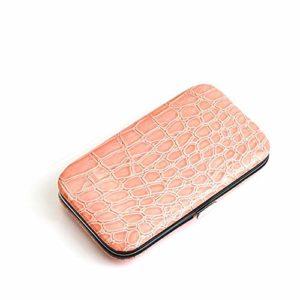 Coupe-ongles ensemble nail art en acier inoxydable ensemble complet d'outils adultes coupe-ongles universels, dix ensembles de rose