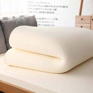 Coussin de matelas en LaTeX King hypoallergénique, chambre Sofa tatami hôtel-matelas en latex thaï pour le sommeil de ménage de soutien et de soulagement de la pression,18cm,220x200cm(87x79inch)