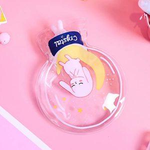 CRAZYON Mignon animal de compagnie Cartoon modèle transparent blanc eau chaude sac à eau enfants bouteille