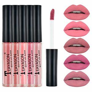 Culater® Bonbon Couleur Brillant lèvres Gloss Imperméable à l'eau Brillant à lèvres Liquide Hydratant Longue durée (L)