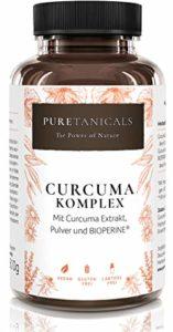 Curcuma Piperine Bio Capsules 4000 mg Haute Dose Test en Laboratoire – Gélule Curcumine + Poivre Noir, Extrait Turmeric Premium | Végan sans Stéarate de Magnésium, Fabriqué en Allemagne