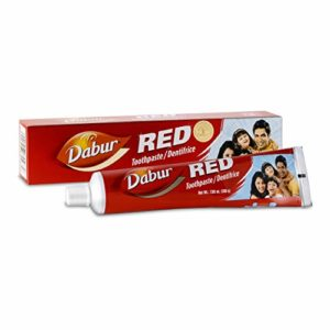 Dabur – Dentifrice rouge – avec brosse à dent incluse – 200 ml