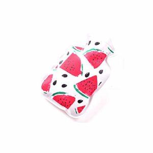 Daliuing Bouillotte Fruits Dessin animé Imprimé Chauffe-mains Pouch Petite Safe réutilisable chaleur Eau Sac d'hiver pour femme Soulagement douleur