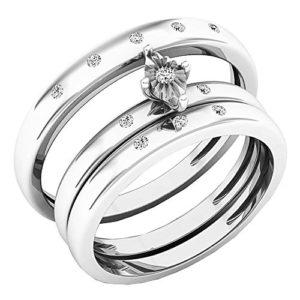 DazzlingRock Collection 10 carats Or Blanc Rond I-J Diamant Blanc
