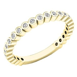DazzlingRock Collection 10 carats Or Jaune Rond I-J Diamant Blanc