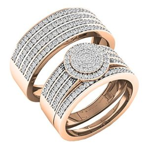 DazzlingRock Collection 10 carats Or Rose Rond I-J Diamant Blanc