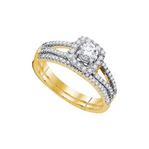 DazzlingRock Collection 14k Or Jaune I-J Diamant Blanc