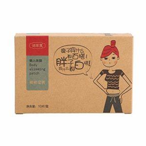 Delaman Patch Minceur Sliminazer Plaster, Autocollant de Perte de Poids de correctifs de Perte de Poids Traditionnel Chinois, 10 pièces
