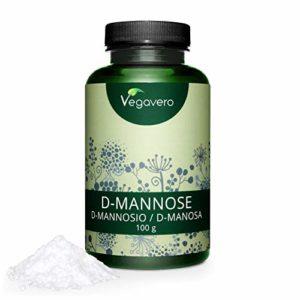 D-Mannose Poudre VEGAVERO | 100 g | Extrait du MAIS pur à 99% | Santé de la VESSIE | Remède NATUREL contre les infections urinaires (cystite) | SANS additifs | SANS gluten et lactose | Vegan
