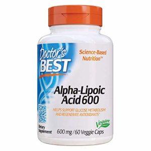 Doctor's Best | Acide Alpha-Lipoïque | 600 mg | 60 gélules végétales | sans gluten | sans soja