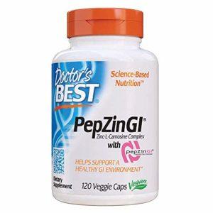 Doctor's Best, PepZinGl, Complexe Zinc-L-Carnosine , 120 Capsules Végétales