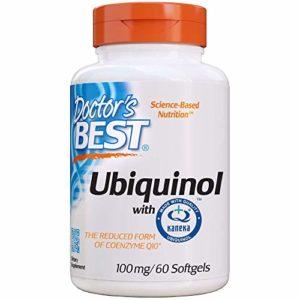 Doctor's Best | Ubiquinol avec Kaneka | 100 mg | 60 Gélules molles | sans gluten | sans soja