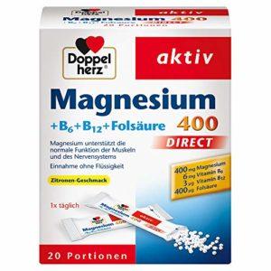 Double Cœur Magnésium 400Direct + B6+ b12+ Acide Folique (Lot de 20)