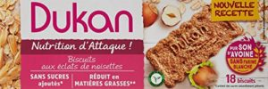 Dukan Biscuits de Son d'Avoine Saveur Noisette 225 g – Lot de 6