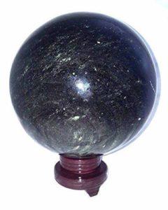 Eclectic Shop UK Rare Taille Énorme Obsidienne Sheen Pierre Précieuse Cristal Sphère de Boule 10.7 kg Poli Massive Article Unique One Of A Kind Cadeau