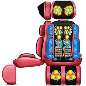 E-KIA Siege De Massage Electrique Massant,Coussin De Massage Corporel Multifonctionnel, Cou ArrièRe Taille Et Jambe,Red