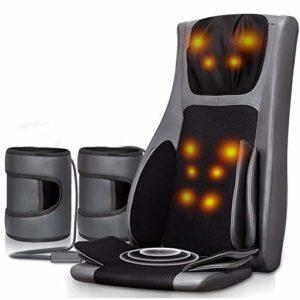 E-KIA SièGe De Massage Fauteuil Electrique,Masseur De Dos Multifonction éLectrique à La Taille, Masseur Cervical D'Airbag Domestique, DC12V