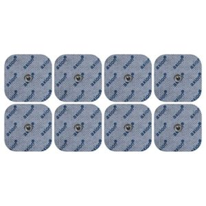 Électrodes pour électrostimulateurs BEURER SANITAS – 8 electrodes 45x45mm – patch pads compatible avec les electrostimulateurs Beurer EM40/EM41/EM41.1/EM49/EM80 et Sanitas SEM 40/41 /42/43 /44