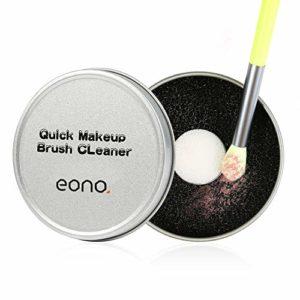 Eono Essentials Pinceaux Maquillage Cleaner Outil de nettoyage Éponge de nettoyage rapide Supprime l'éponge pour enlèvement de la couleur des ombres