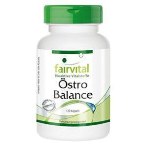 Estr Balance – pendant 2 mois – dosage élevé – 120 capsules – isoflavones de soja (génistine, la daidzine, la glycitéine) avec de Vitamine E