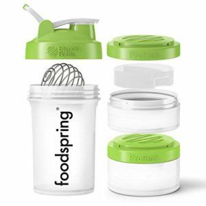 foodspring Shaker Premium, 650ml, Votre shaker polyvalent tout en un