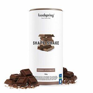 foodspring Shape Shake, Chocolat, 750g, Le Shake pour un corps de rêve, Fabriqué en Allemagne