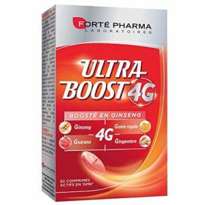 Forté Pharma Vitalité 4G Ultra-Boost | Complément alimentaire booster d'énergie à base d'ingrédients d'origine naturelle | 30 comprimés à avaler = 1 mois