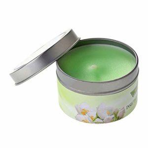 Frcolor Boîte de Bougies Cadeaux Aromathérapie Huile Essentielle Naturel Décoration Bougie Parfumée Vintage (Jasmine)