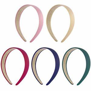 Frcolor Lot de 5Serre-têtes Robustes – 7,6cm – pour les Femmes et les Filles