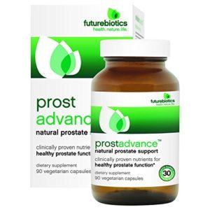 Futurebiotics Prost Advance Appui de Prostate, inc Palmetto de Scie, Pygeum, Graine de Citrouille, Zinc, Stérols Végétaux – x90Vcaps