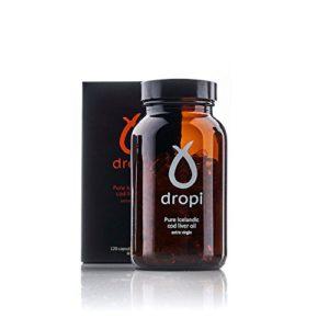 Gélules Dropi Pure islandaise à l'huile de morue vierge extra vierge – paquet de 120
