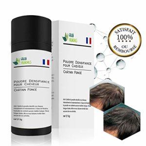 G.F. Poudre Cheveux Chatain Foncé, Premium 2019 Poudre Fibre Matifiante pour Cheveux, Poudre Capillaire épaississante de cheveux pour Cheveux fins et clairsemés