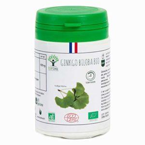 Ginkgo Biloba bio | 60 gélules | Complément alimentaire | Mémoire | Bioptimal – nutrition naturelle | Fabriqué en France