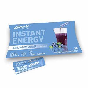 GoMo ENERGY® Boisson énergétique probiotique | Flore intestinale saine et système immunitaire forte| Pour stimuler la performance du corps et de l'esprit | IMMUNE ENHANCER 30 portions