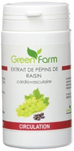 Green Farm Extrait de Pépin de Raisin 60 Gélules 250 mg T1B