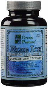 Green Pasture Blue Ice Fermenté Huile de Foie de Mourue -non-gelatin Capsules (Paquet de 2)