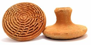 Handmade Terracotta or Clay Exfoliator – Pumice Stone, Foot Scrubber, Linear Pattern for Exfoliation or Foot Massage
