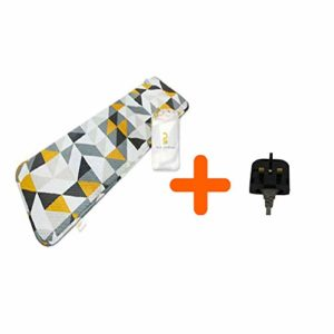 Hanmihomecare électrique portable Thermo Tapis de poche Lit Matelas Taille compacte 110V ~ 220V Corée avec fixe 3pin UK prise de conversion
