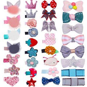 HBF 32 Pcs Coloré DIY Doux Épingle à Cheveux Cheveux Accessoires pour les tout-petits et les filles, mini couronne diadème,Cheveux Cravates Pince à cheveux… …