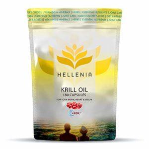 Hellenia Huile de krill antarctique 180 capsules 500 mg