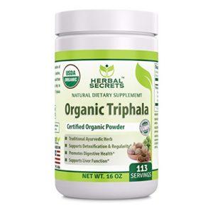 Herbal Secrets USDA Certified Organic Triphala 16 Oz(1 Lb) Gluten-Free, Non-GMO- Supports detoxification adn regularity* promotes digestive health*