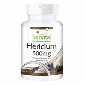 Hericium 500mg – 1 mois – végan – dosage élevé – 90 capsules – Hericium – poudre de champignon