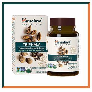 Himalaya Triphala 30 capsules pour nettoyer le côlon 688mg, 1 mois d'approvisionnement