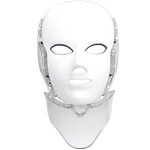 Home Care Wholesale® Masque de Luminothérapie LED Photon 7 Couleurs avec Cou | Beauté Peau Soins Photothérapie Traitement Masque