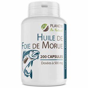 Huile de Foie de Morue – 400 mg – 200 capsules